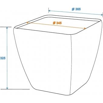 EUROPALMS Deco pot LUNA-33, rectangular,espresso #5