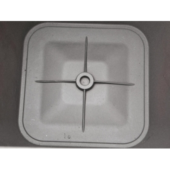 EUROPALMS Deco pot LUNA-26, rectangular, silver #4