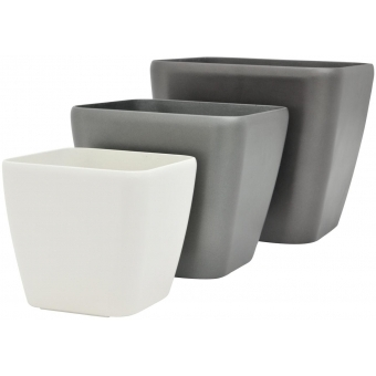 EUROPALMS Deco pot LUNA-20, rectangular,espresso #3