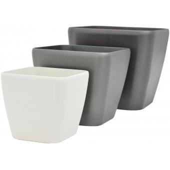 EUROPALMS Deco pot LUNA-20, rectangular, white #3