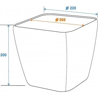 EUROPALMS Deco pot LUNA-20, rectangular, white #5