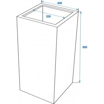 EUROPALMS LEICHTSIN BOX-80, shiny-white #4
