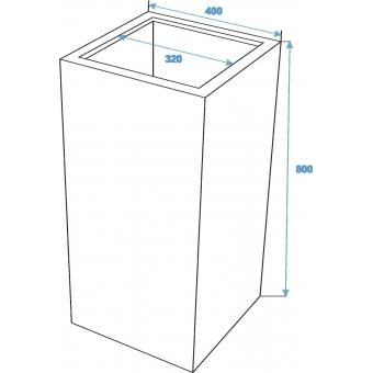 EUROPALMS LEICHTSIN BOX-80, shiny-white #5