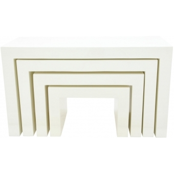 EUROPALMS LEICHTSIN DECO TABLES, white #2