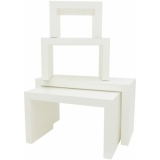 EUROPALMS LEICHTSIN DECO TABLES, white