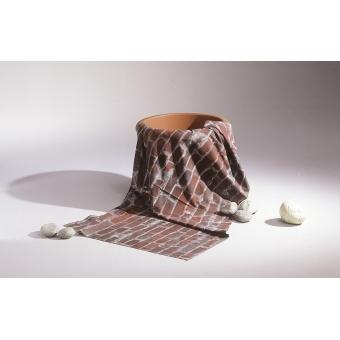 EUROPALMS Deco fabric, brick, 150x100cm #3