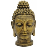 EUROPALMS Head of Buddha, antique-gold, 75cm
