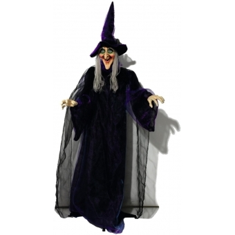 EUROPALMS Halloween figure Witch, animated 175cm