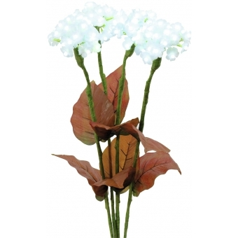 EUROPALMS Hydrangea, white, with flowers, 100 LEDs