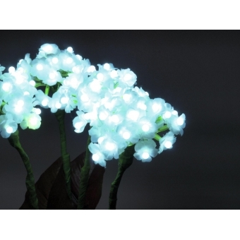 EUROPALMS Hydrangea, white, with flowers, 100 LEDs #5