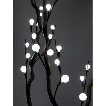 EUROPALMS Corkscrew branch, with LEDs, white, 120cm #5