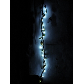 EUROPALMS Heather twine, with LEDs, white, 180cm #4