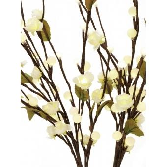 EUROPALMS Camellia bow, with LEDs, white, 50cm #2