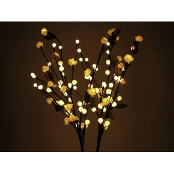 EUROPALMS Camellia bow, with LEDs, white, 50cm #4