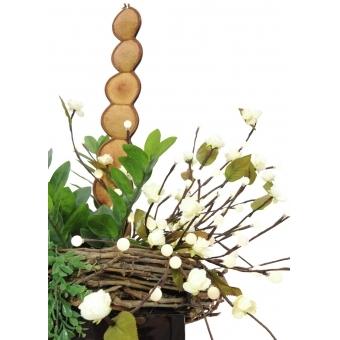 EUROPALMS Camellia bow, with LEDs, white, 50cm #6