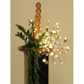 EUROPALMS Camellia bow, with LEDs, white, 50cm #7