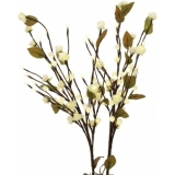 EUROPALMS Camellia bow, with LEDs, white, 50cm