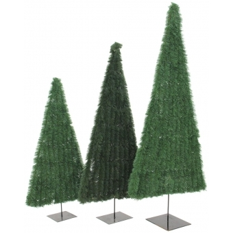 EUROPALMS Fir tree, flat, dark-green, 120cm #4