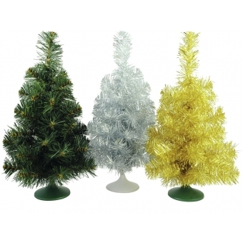EUROPALMS Table christmas tree, silver, 45cm #2