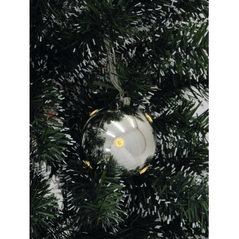 EUROPALMS LED Christmas Ball 6cm, silver 6x #2