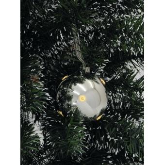 EUROPALMS LED Christmas Ball 6cm, silver 6x #2