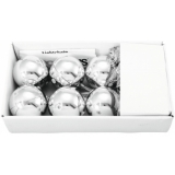 EUROPALMS LED Christmas Ball 6cm, silver 6x