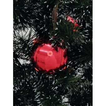 EUROPALMS LED Christmas Ball 6cm, red 6x #2