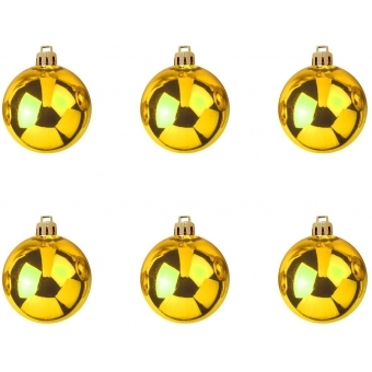 EUROPALMS Deco Ball 7cm, gold 6x #2