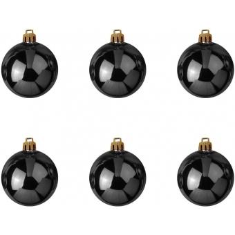 EUROPALMS Deco Ball 7cm, black 6x #2