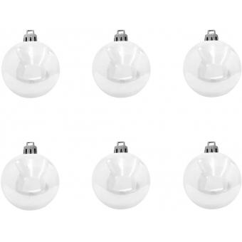 EUROPALMS Deco Ball 7cm, white 6x #2
