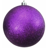 EUROPALMS Deco Ball 10cm, purple, glitter