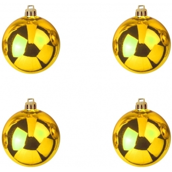 EUROPALMS Deco Ball 10cm, gold 4x #2
