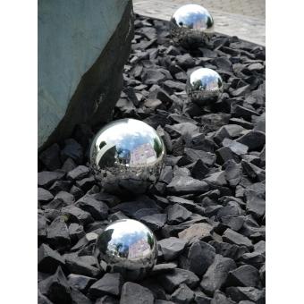 EUROPALMS Deco Ball 10cm, silver 4x