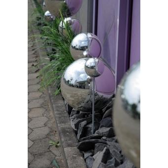 EUROPALMS Deco Ball 10cm, silver 4x #2