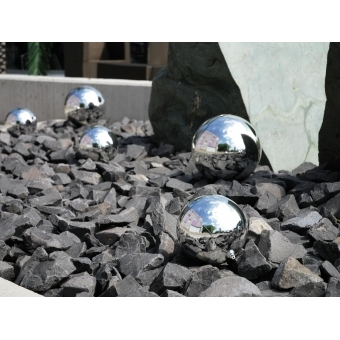 EUROPALMS Deco Ball 10cm, silver 4x #3