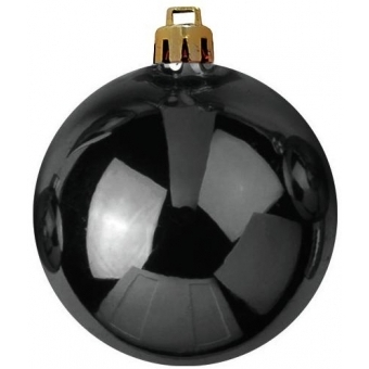 EUROPALMS Deco Ball 10cm, black 4x #1
