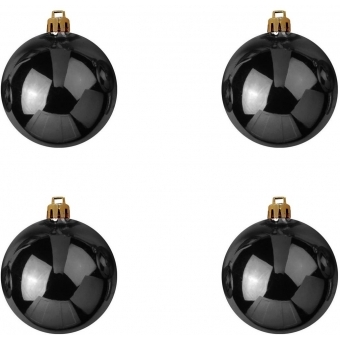 EUROPALMS Deco Ball 10cm, black 4x #2