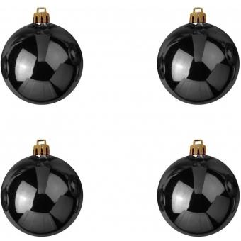 EUROPALMS Deco Ball 10cm, black 4x #2