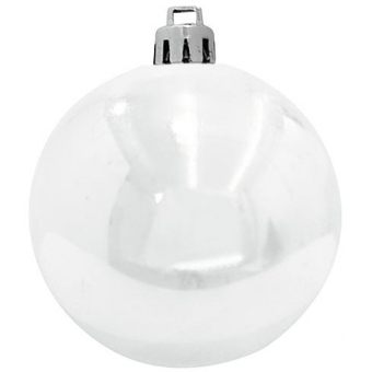 EUROPALMS Deco Ball 10cm, white 4x #3