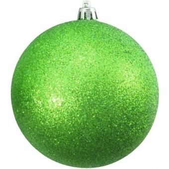 EUROPALMS Deco Ball 10cm, applegreen, glitter 4x