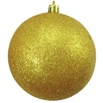 EUROPALMS Deco Ball 10cm, gold, glitter 4x