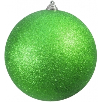 EUROPALMS Deco Ball 20cm, applegreen, glitter