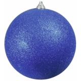 EUROPALMS Deco Ball 20cm, blue, glitter