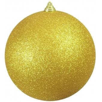 EUROPALMS Deco Ball 20cm, gold, glitter