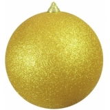 EUROPALMS Deco Ball 20cm, gold, glitter