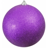 EUROPALMS Deco Ball 20cm, purple, glitter