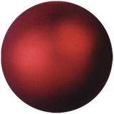 EUROPALMS Deco Ball 6cm, red, metallic 6x