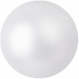 EUROPALMS Deco Ball 6cm, white, metallic 6x