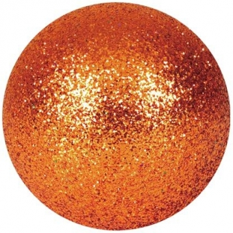 EUROPALMS Deco Ball 6cm, copper, glitter 6x #1