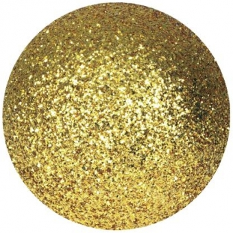 EUROPALMS Deco Ball 6cm, gold, glitter 6x